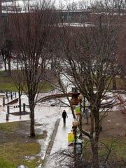 City Hall Park in Burlington on Thursday, December