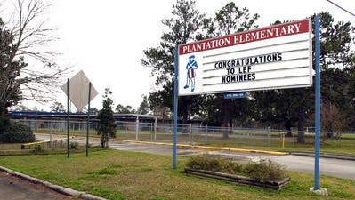 Plantation Elementary School is located on Kaliste Saloom Road.