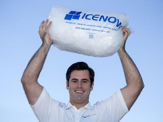 Nolan de Graaff, president of ice-distribution company