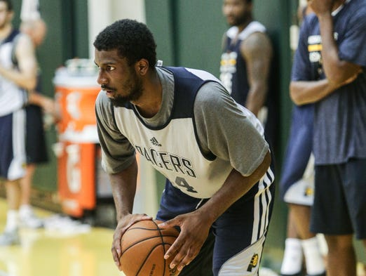 Wednesday July 1st, 2014, Solomon Hill attends The Indiana Pacers  training camp, for free agents and rookies.