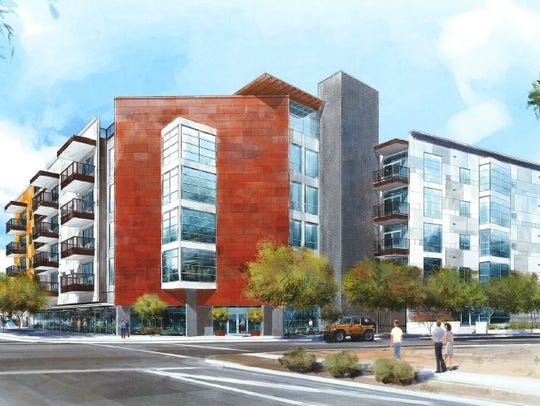 A rendering of iLuminate, an apartment complex going