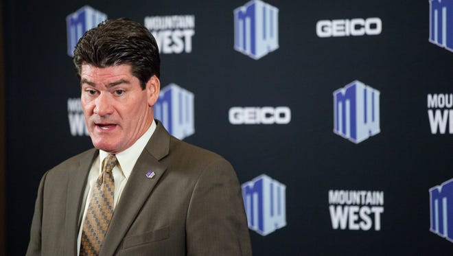 Commissioner Craig Thompson at Mountain West Conference football media day.