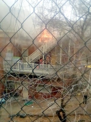 The Conway House - a seven apartment complex - near downtown Silver City went up in flames Wednesday afternoon. The Silver City Fire Department was able to respond quickly and minimize the damage.