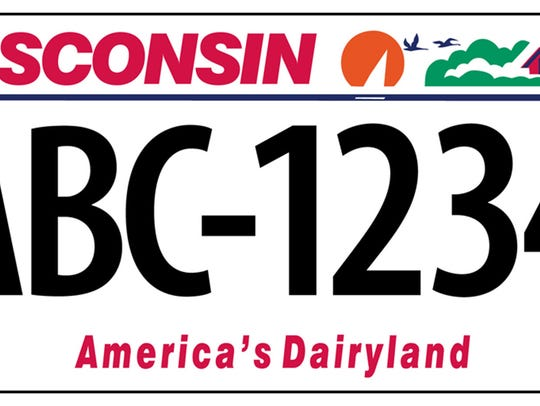 """America's Dairyland"" first appeared on state license"