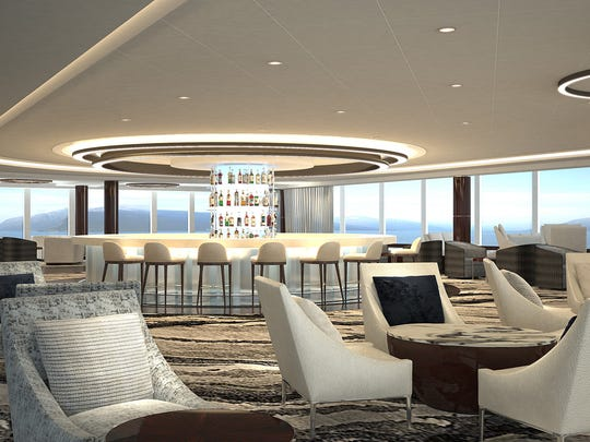 The Observation Deck of the new Norwegian Bliss.