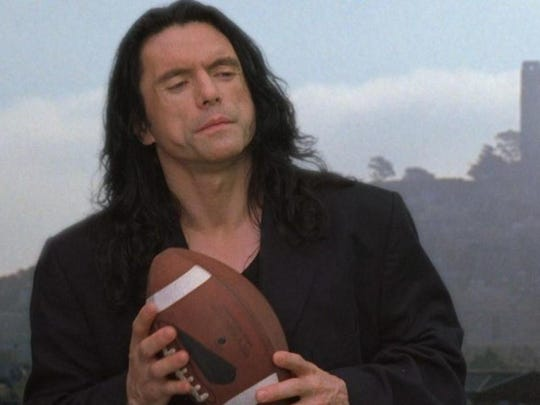 """""""The Room"""" (2003) is one inept movie. It's just a fact. The acting is truly awful. The story doesn't make a lick of sense. It was made as a self-funded vanity project by Johnny Wiseau (shown here). No one on the set had the guts to yell, """"Stop whatever it is that you are doing."""" Naturally, writer-director-actor Wiseau's """"The Room"""" went on to become a cult classic in the tradition of Ed Wood's """"Plan 9 From Outer Space"""" (1959), and inspired James Franco's hilariously entertaining and strangely touching """"The Disaster Artist"""" (2017). See """"The Room"""" in all its goofy, shambolic glory when it hits the big screen at 8 p.m. Wednesday at The Movies at Governor's Square. It's not rated but the film contains profanity, violence, sexual content and awkward nudity. Tickets are $13.44. Visit www.fandango.com."""