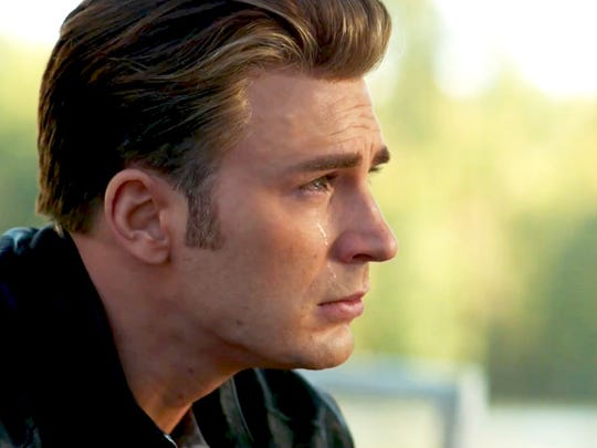 "Chris Evans is pictured in a scene from ""Avengers: Endgame."""