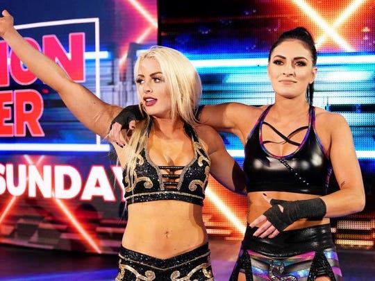 WWE wrestlers Mandy Rose and Sonya Deville