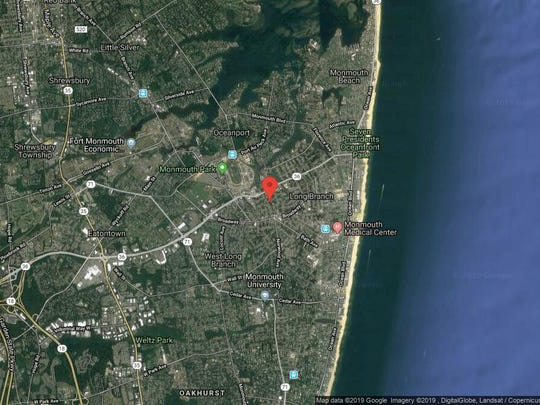 This aerial photo shows the approximate location of 622 Vernon St. in Long Branch. The property at this address changed hands in January 2019, when Carla I Deoliveira bought the property from Robert Taylor and Erica Morano for $365,000.