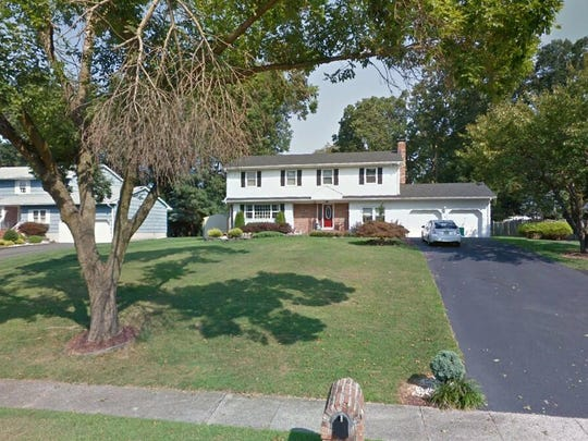 This Google Street View image shows the approximate location of 5 Kensington Drive in Manalapan. The property at this address changed hands in May 2019, when  Philip Ceparano Jr{dot}  bought the property from Paul and Lisa Solomon  for $550,000.