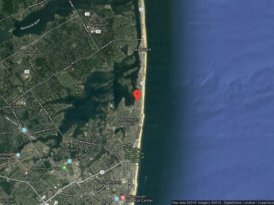 This aerial photo shows the approximate location of Wharfside Unit 88 in Monmouth Beach. The property at this address changed hands in June 2019, when  Rosa Cermeno and  Jihad Assad  bought the property from Charles and Traci Deangelis  for $315,000.