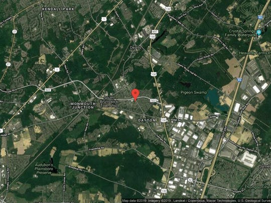 This aerial photo shows the approximate location of Georges Road A-11 in South Brunswick. The property at this address changed hands in June 2019, when Kayann and Jenita Drummond Nelson bought the property from Joanne-Administratrix Gorman for $316,000.