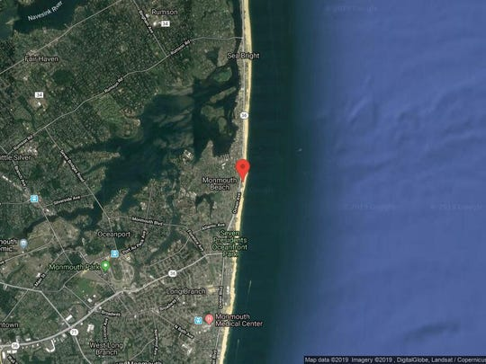 This aerial photo shows the approximate location of 55 Ocean Ave. Unit 6D in Monmouth Beach. The property at this address changed hands in June 2019, when Lonnie D and Carolyn S Scher bought the property from Paul A and Rita Juliano for $442,000.