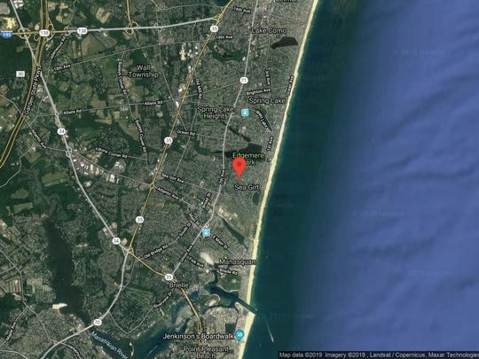 This aerial photo shows the approximate location of 407 Baltimore Blvd. in Sea Girt. The property at this address changed hands in June 2019, when Michael and Diane Pagano bought the property from David J Long for $2,700,000.