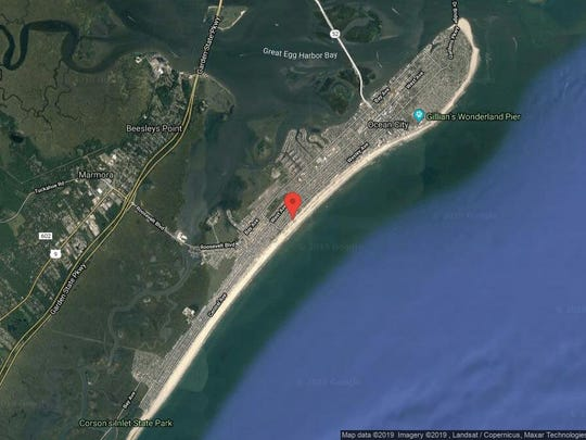 This aerial photo shows the approximate location of 2637-39 Wesley Ave. in Ocean City. The property at this address changed hands in June 2019, when Paul Matthew and Carrie Stohner bought the property from William J and Laura Kappaz for $3,195,000.