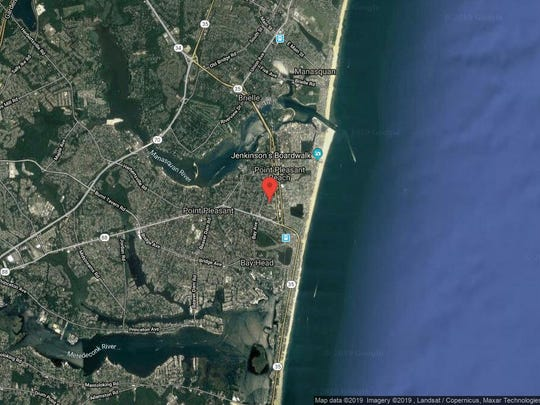 This aerial photo shows the approximate location of 1110 Marcia Ave. in Point Pleasant Beach. The property at this address changed hands in May 2019, when Caroline Mchale and Gerard Toner bought the property from M J Schwarz and M E Sevastakis for $530,000.