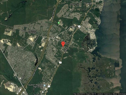 This aerial photo shows the approximate location of 20 Hannah Lee Road in Barnegat. The property at this address changed hands in June 2019, when new owner bought the property for $330,000.