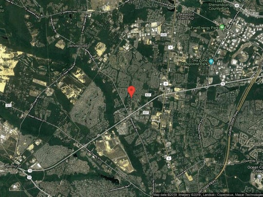 This aerial photo shows the approximate location of 1605 Aqueduct Court in Toms River. The property at this address changed hands in June 2019, when new owner bought the property for $253,000.