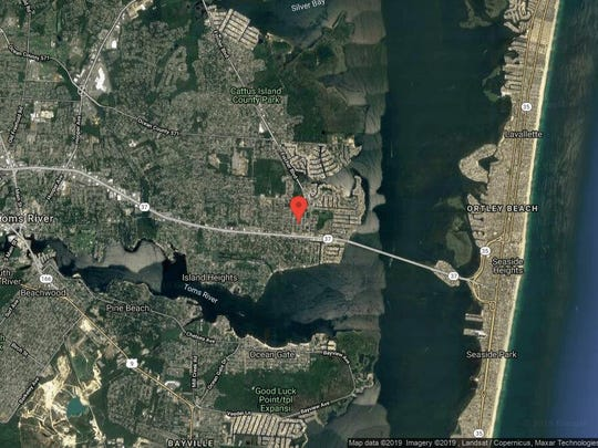 This aerial photo shows the approximate location of 533 George Road in Toms River. The property at this address changed hands in June 2019, when new owner bought the property for $325,000.