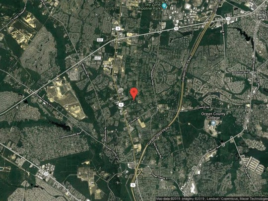 This aerial photo shows the approximate location of 1813 Hidden Pond Lane in Toms River. The property at this address changed hands in June 2019, when new owners bought the property for $590,000.