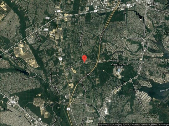 This aerial photo shows the approximate location of 1731 New Hampshire Ave. in Toms River. The property at this address changed hands in June 2019, when new owner bought the property for $365,000.
