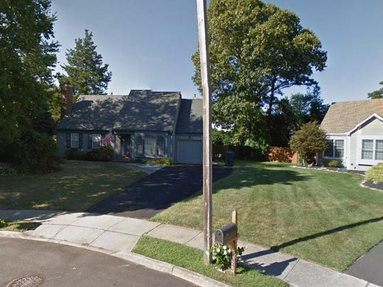 This Google Street View image shows the approximate location of 1424 Weeping Willow Court in Toms River. The property at this address changed hands in July 2019, when new owners bought the property for $340,000.
