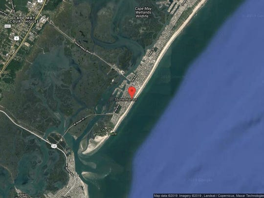 This aerial photo shows the approximate location of 12 105th St. in Stone Harbor. The property at this address changed hands in September 2019, when the new owners bought the property for $4,275,000.
