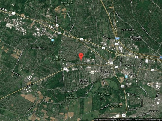 This aerial photo shows the approximate location of 15 Normandie Lane in Raritan. The property at this address changed hands in August 2019, when new owner bought the property for $510,000.