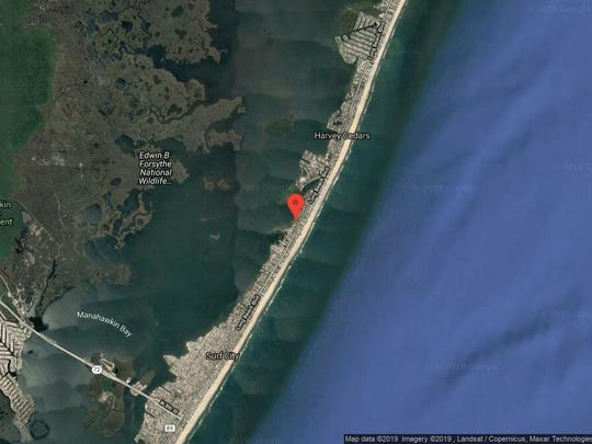 This aerial photo shows the approximate location of 5508 Holly Ave. in Harvey Cedars. The property at this address changed hands in October 2019, when the new owners bought the property for $1,250,000.