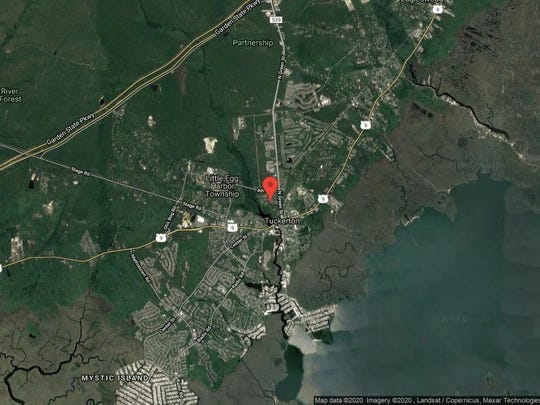 This aerial photo shows the approximate location of 100 Pharo St. in Tuckerton. The property at this address changed hands in November 2019, when new owner bought the property for $205,000.