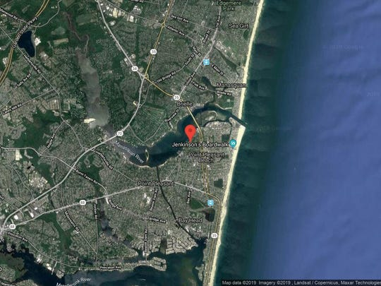 This aerial photo shows the approximate location of 313F River Front in Point Pleasant Beach. The property at this address changed hands in October 2019, when the new owner bought the property for $3,200,000.