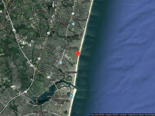 This aerial photo shows the approximate location of 2 Neptune Place in Sea Girt. The property at this address changed hands in October 2019, when the new owners bought the property for $6,850,000.