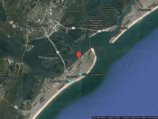 This aerial photo shows the approximate location of 26 Bay Ave. in Ocean City. The property at this address changed hands in October 2019, when the new owner bought the property for $1,999,000.