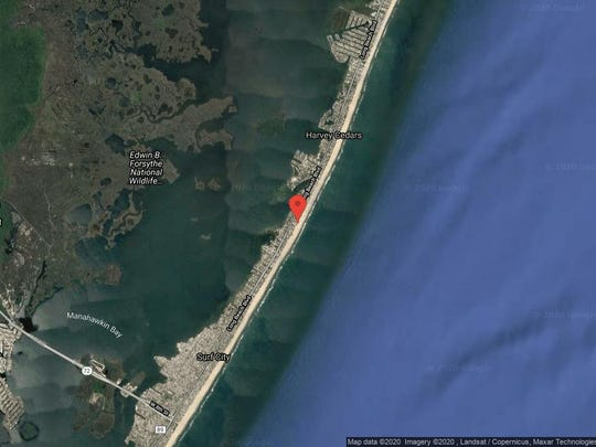 This aerial photo shows the approximate location of 5419E Long Beach Blvd. in Harvey Cedars. The property at this address changed hands in December 2019, when the new owners bought the property for $2,300,000.