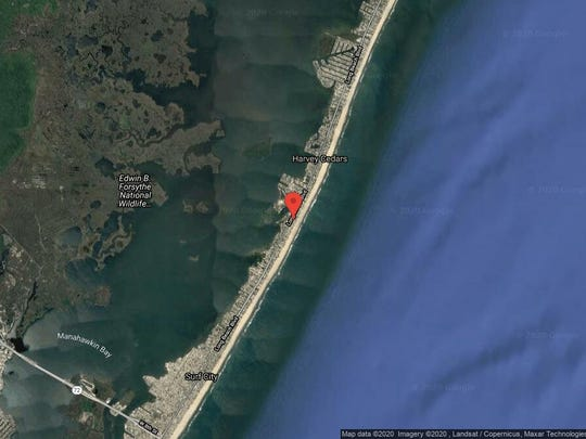 This aerial photo shows the approximate location of 6103 Long Beach Blvd. in Harvey Cedars. The property at this address changed hands in December 2019, when the new owners bought the property for $1,700,000.
