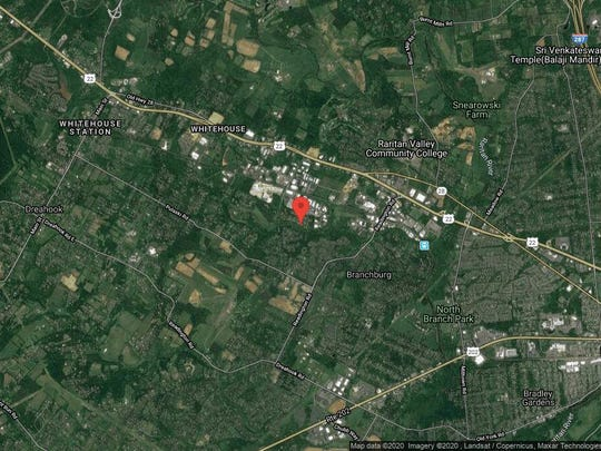 This aerial photo shows the approximate location of 810 Magnolia Lane in Branchburg. The property at this address changed hands in December 2019, when new owner bought the property for $248,000.