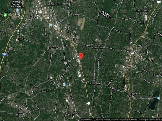 This aerial photo shows the approximate location of 11 Lenape Trail in Upper Saddle River. The property at this address changed hands in August 2019, when new owner bought the property for $765,000.