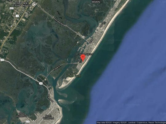 This aerial photo shows the approximate location of 179 114th St. in Stone Harbor. The property at this address changed hands in February 2020, when the new owner bought the property for $3,950,000.