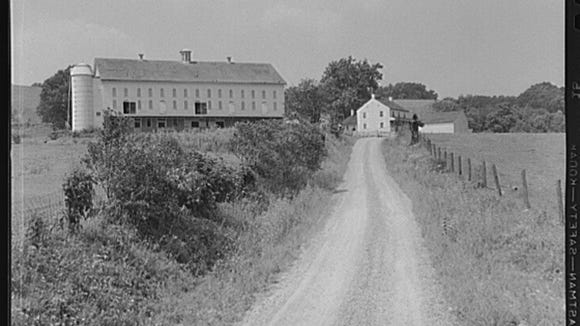 This is one of the unidentified Depression-era farms in York County that were part of a popular release of a series of photos by Yale University. Could this be the farm on South Pleasant Avenue extended, south of Dallastown in the vicinity of Stine Hill Road, York Township?