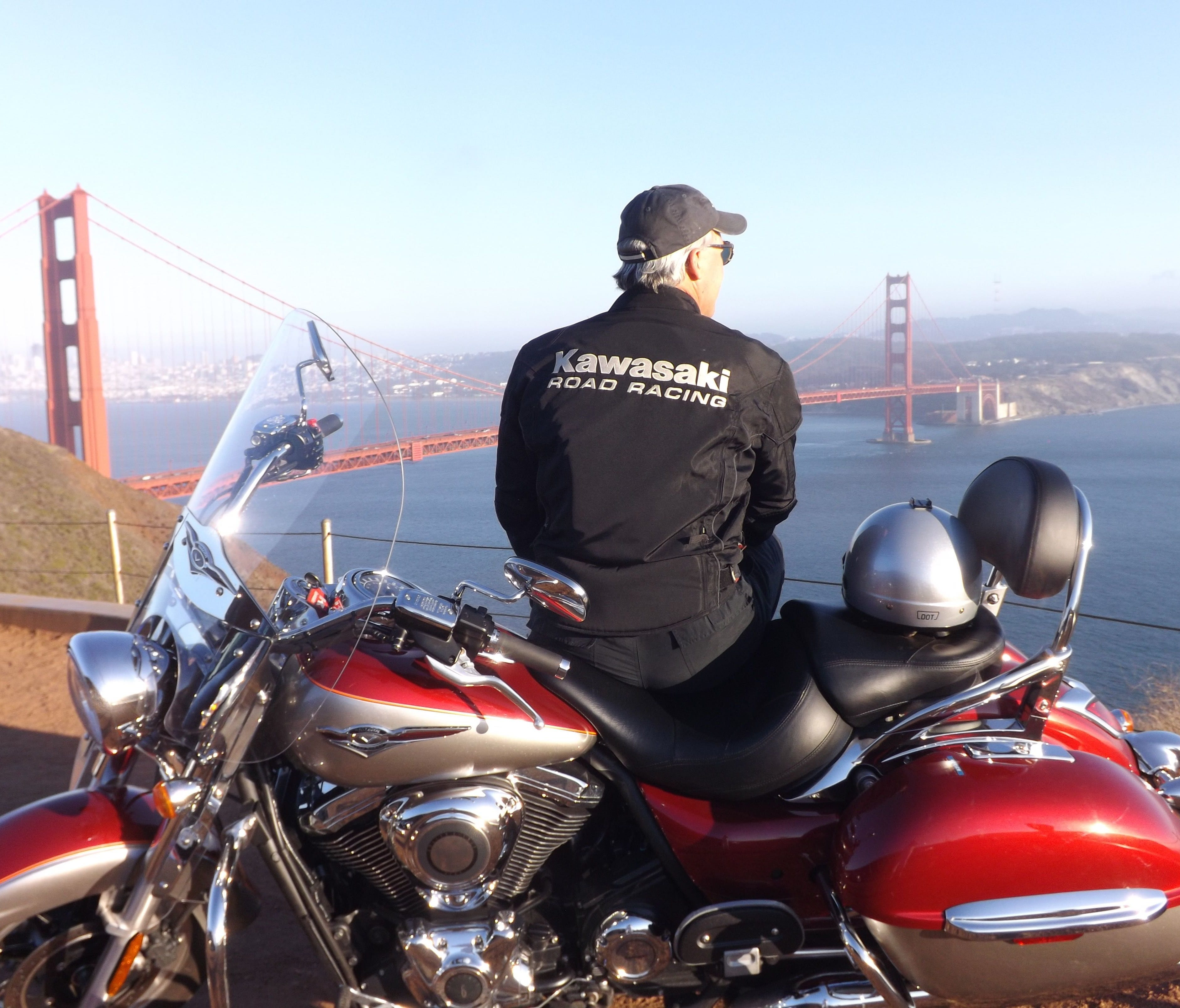 The view from the hills overlooking San Francisco and the Golden Gate Bridge is just one reason to ride a motorcycle.