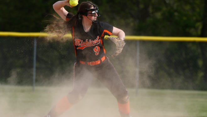 Mishicot softball team hosts Howards Grove on Friday, May 20 in Mishicot. The Indians defeated the Tigers 7-0.