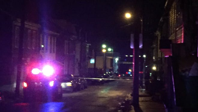 Emergency personnel respond to reports of a shooting on the 200 block of Hartley St. in York city just after 8:30 p.m. Sunday, Dec. 27, 2015.