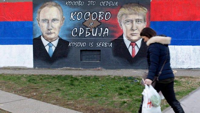 A mural in Belgrade, Serbia, on Dec. 5, 2016.