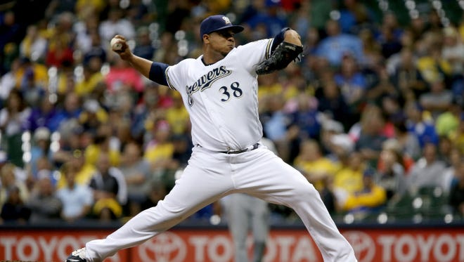 Wily Peralta continued to struggle in his new role as reliever on Monday night, allowing four runs on five hits in just one inning of work against the Pirates at Miller Park. Peralta has now allowed 19 hits and 16 runs in 13 2/3 innings (10.53 ERA) as a reliever.