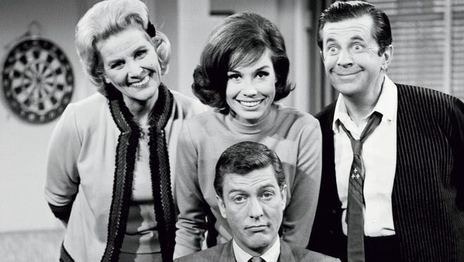 a. With cast of The Dick Van Dyke Show.