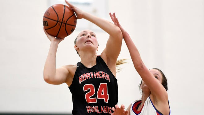 Junior guard/forward Morgan Micallef scored 14 points in Northern Highlands' 50-41 win over Hackensack.