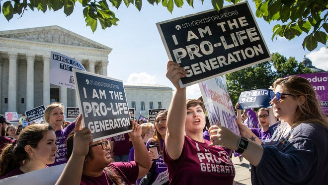 Pro-life advocates at Supreme Court on June 25, 2018