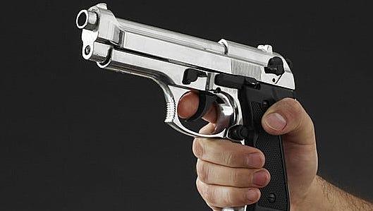 Stock photo of a handgun