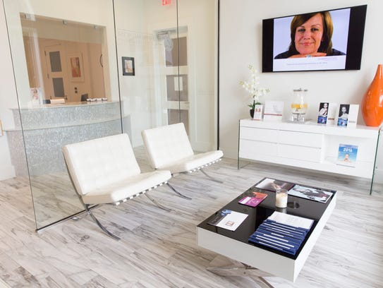 The waiting room at the Aesthetic Medicine & anti-Aging