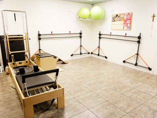 The pilates room at Acadiana Yoga and Wellness in Lafayette